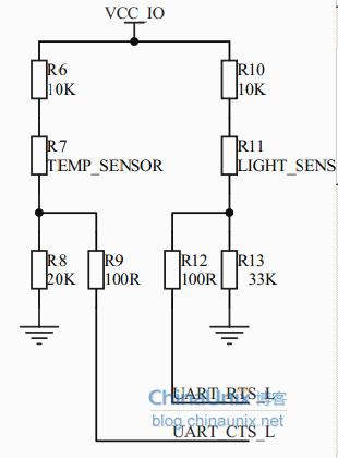 温敏电阻和光敏电阻取样电路